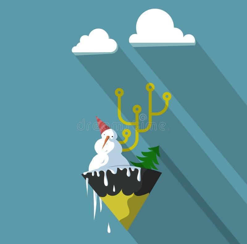 Snowmanscheme illustration libre de droits