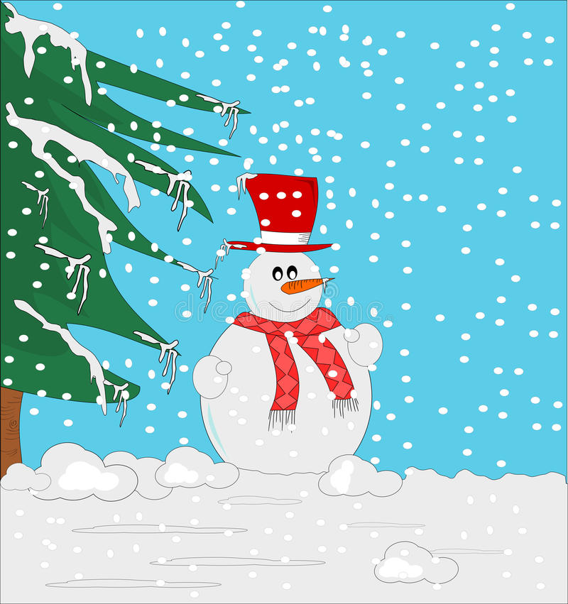Snowmen ... royalty free illustration