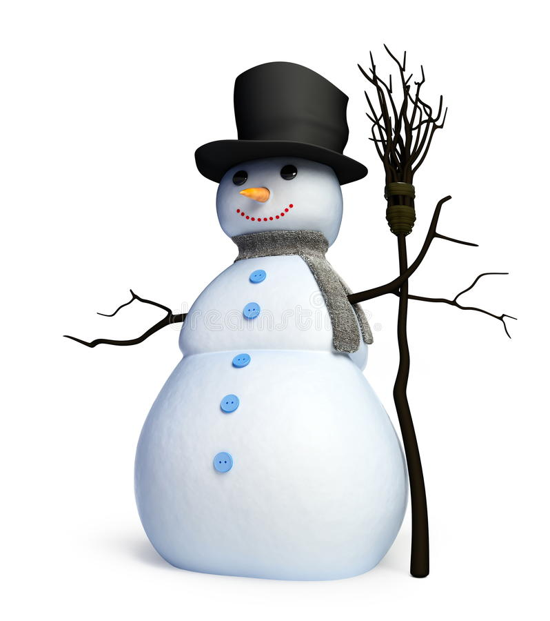 Download Snowmen stock illustration. Image of cheerful, cylinder - 11786921