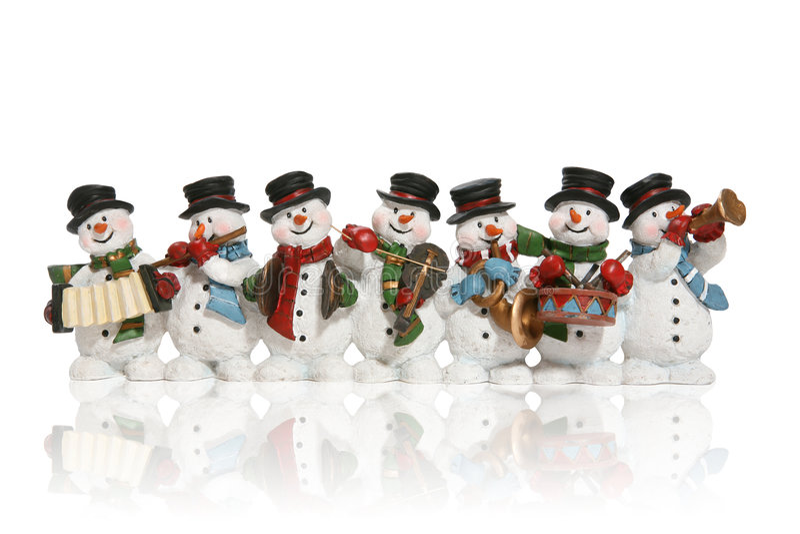 Snowmen royalty free stock image