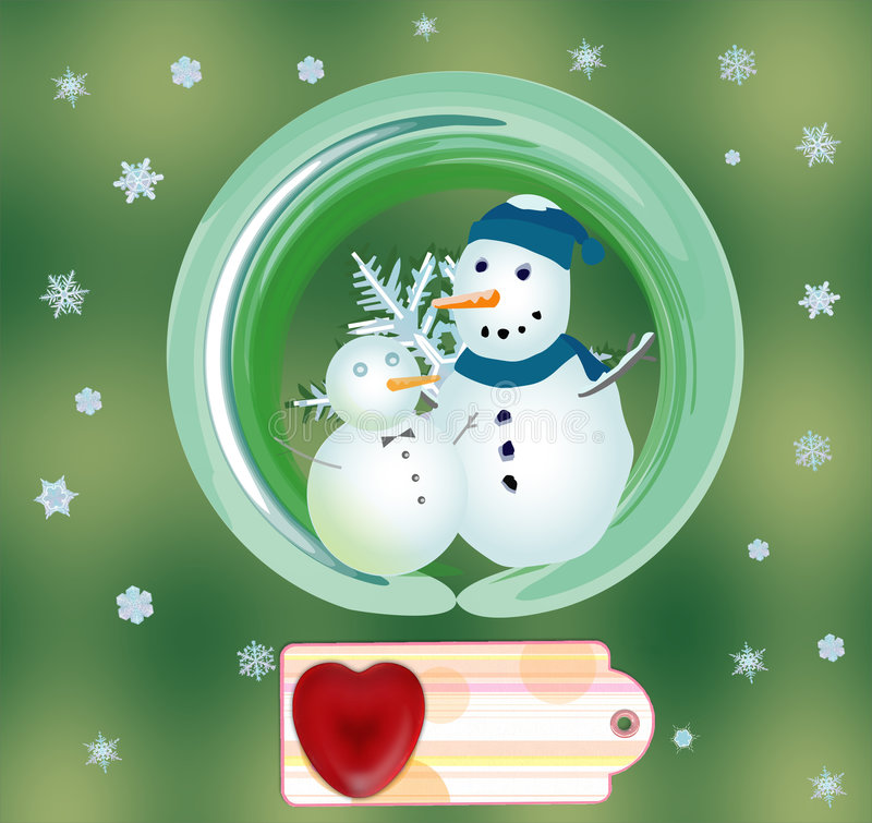 Download Snowmen, stock illustration. Image of family, christmas - 7446064