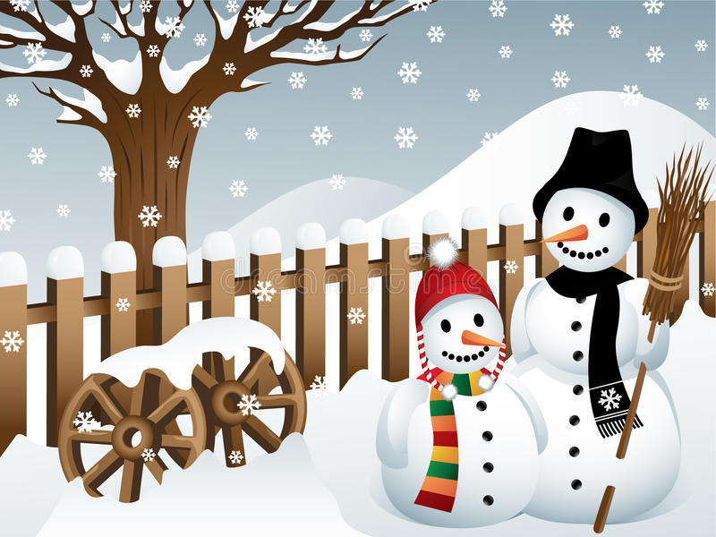 Download Snowmen In A Country Stock Images - Image: 17166674