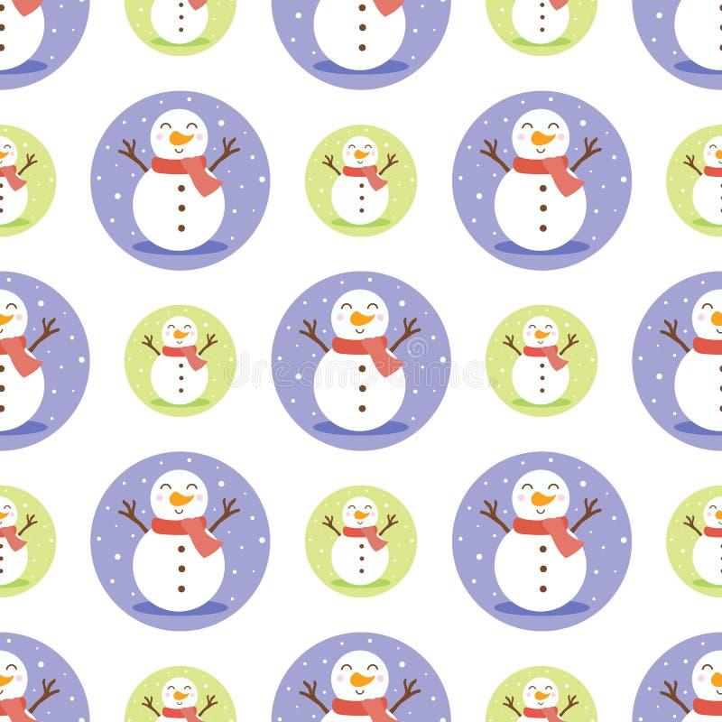 Snowmen naadloze achtergrond royalty-vrije illustratie