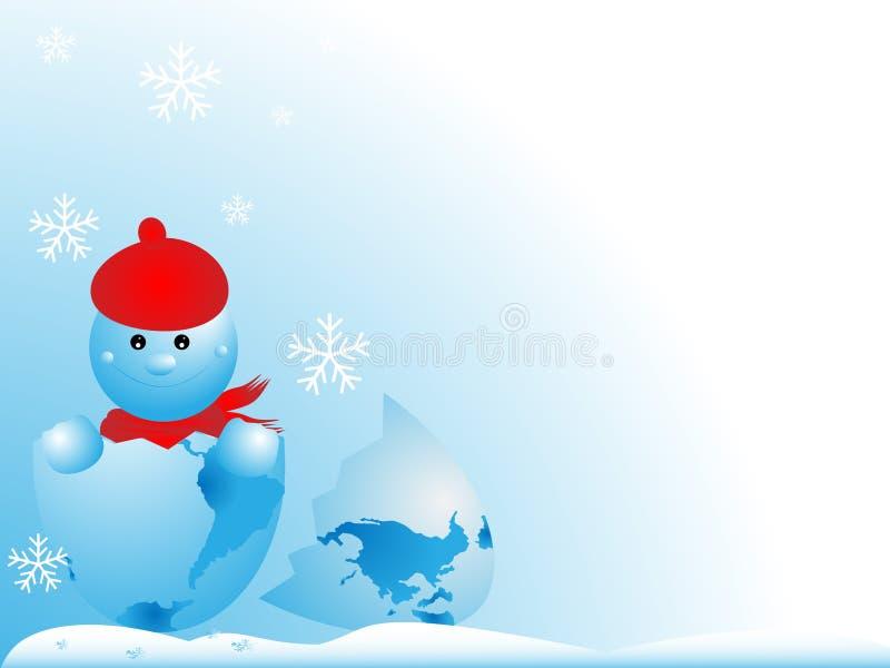 Snowmen-New Year stock illustration