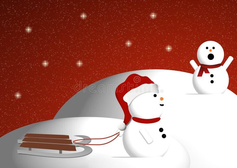 Snowmen playing