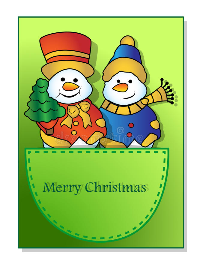 Download Snowmen in the pocket stock illustration. Image of snowmen - 27357468