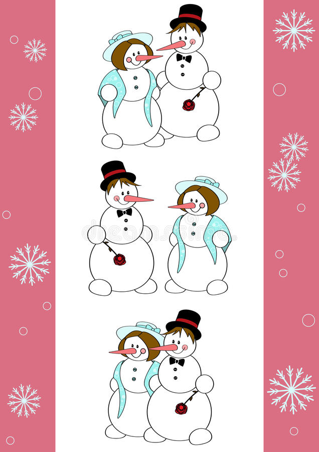 Download Snowmen romantic stock vector. Illustration of design - 21781438