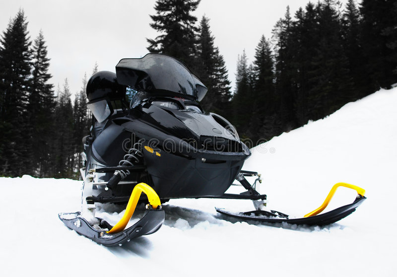 Snowmobile foto de stock royalty free