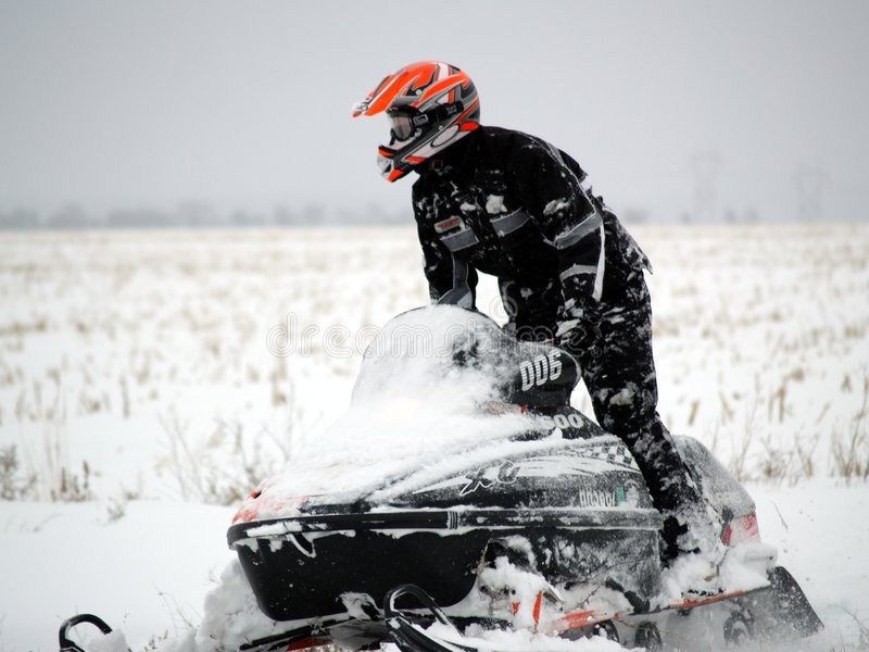 Snowmobile imagens de stock royalty free