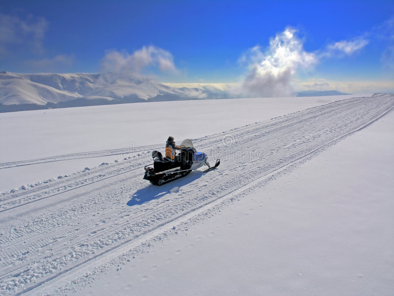 snowmobile photographie stock