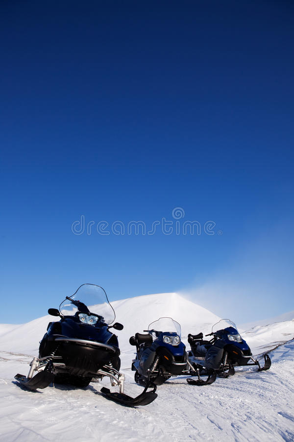 Snowmobile royalty free stock images
