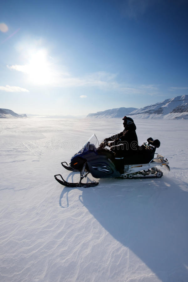 Download Snowmobile stock photo. Image of northern, beauty, climate - 9638330