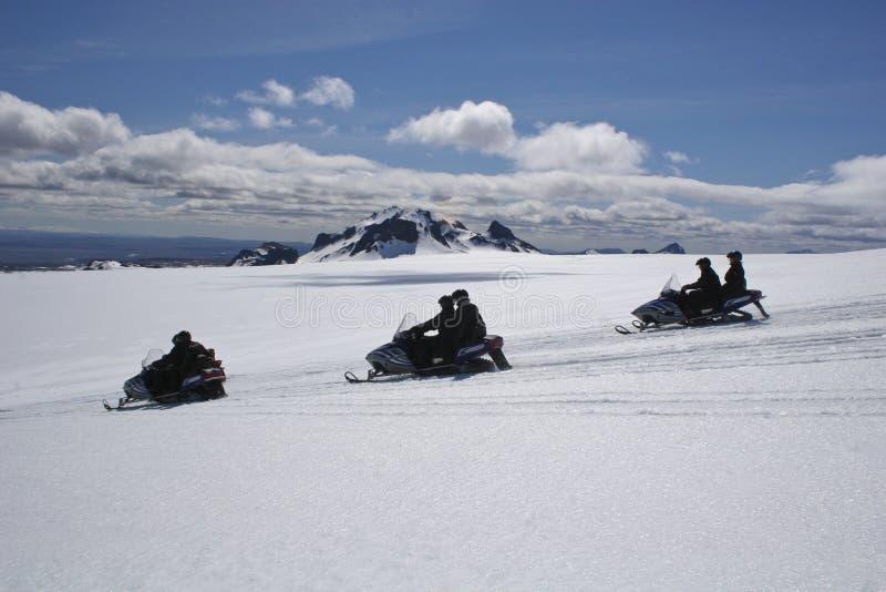 Snowmobile na geleira mais próxima fotos de stock