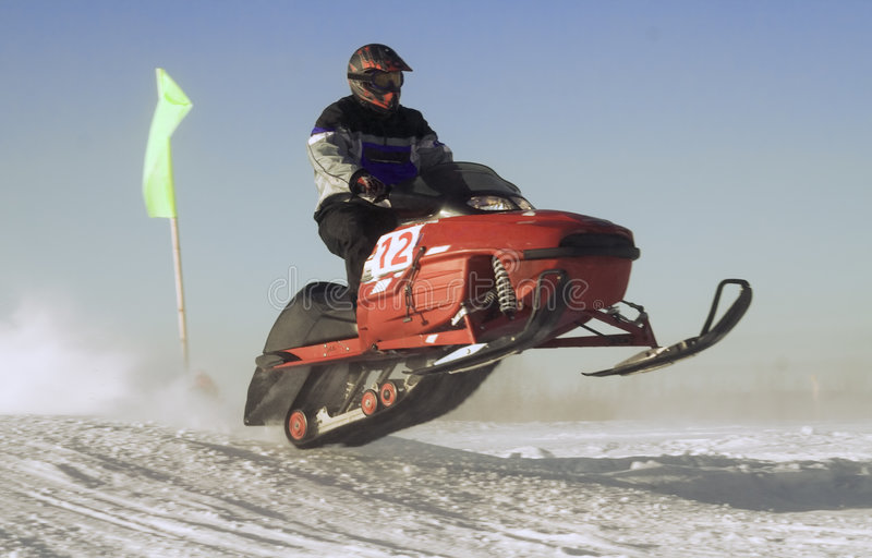 Download Snowmobile Race stock photo. Image of jumping, speed, exciting - 3585068