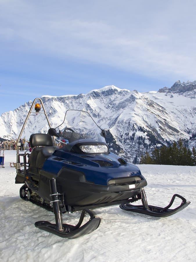 Snowmobile salvataggio/di assistenza fotografia stock