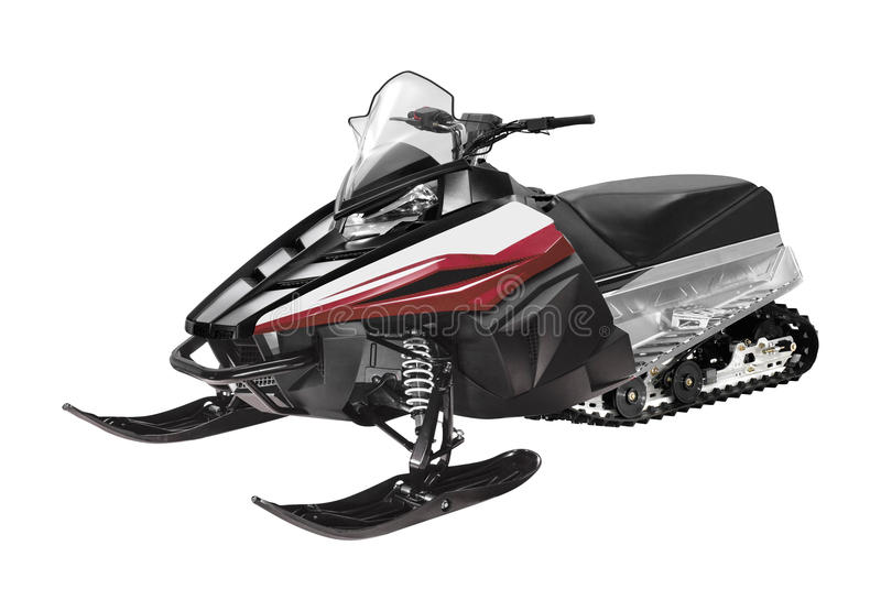 Snowmobile ski-doo isolated. On white background stock photography