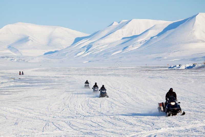 Snowmobile Travel royalty free stock photos