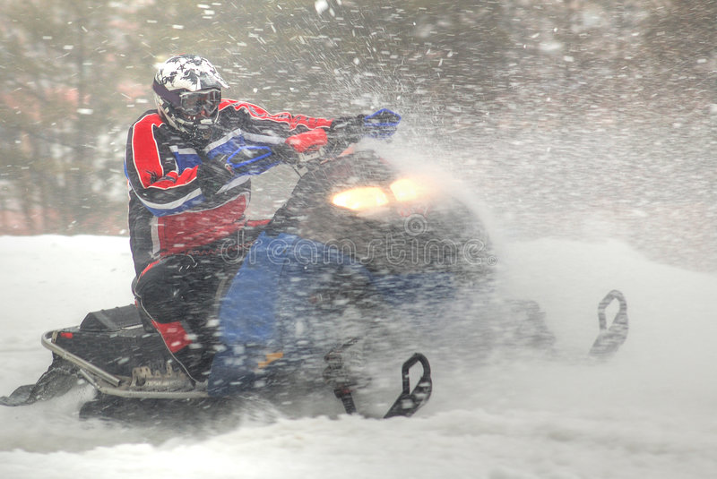 Snowmobiler fotografia de stock