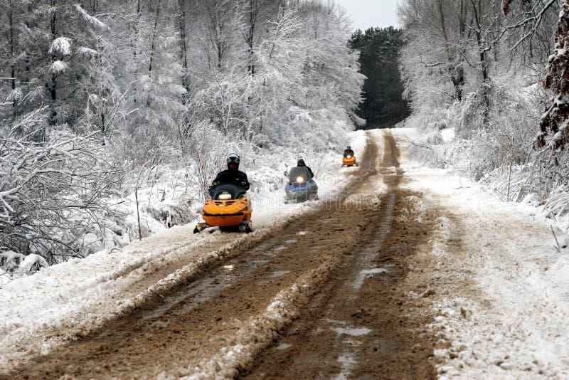 snowmobilers zdjęcie stock
