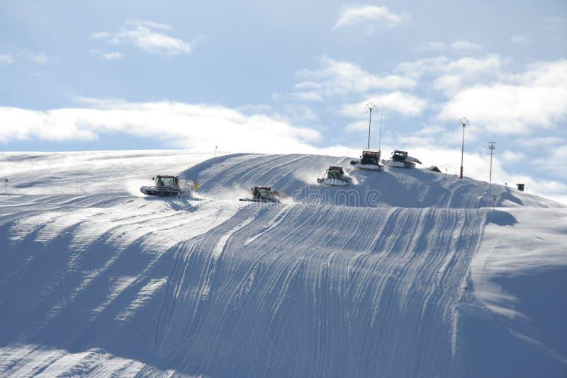 Snowmobiles image libre de droits