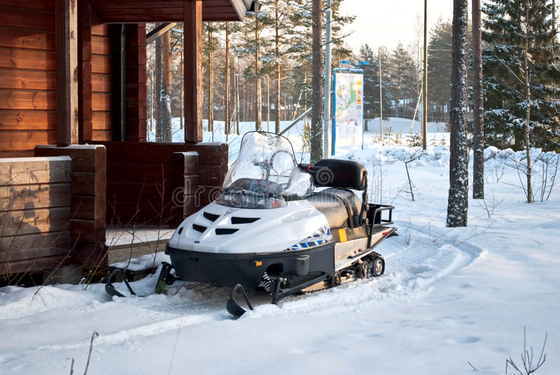 Snowmobiles. imagens de stock royalty free