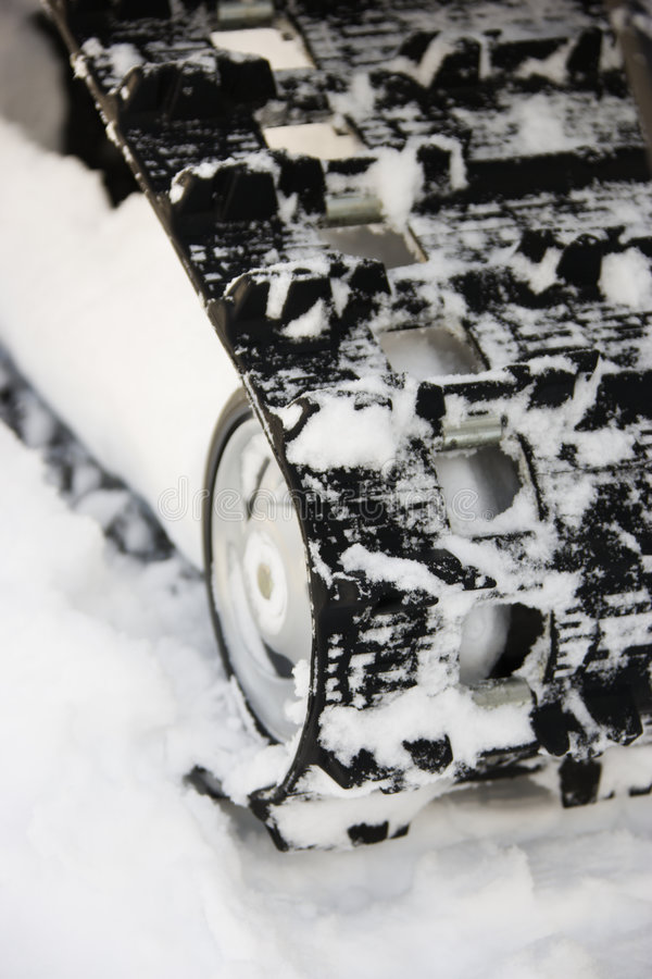 Snowmobilespur. stockbilder