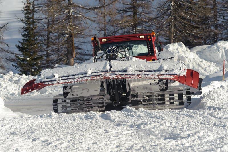 Snowplow. Make a way in winter royalty free stock photos