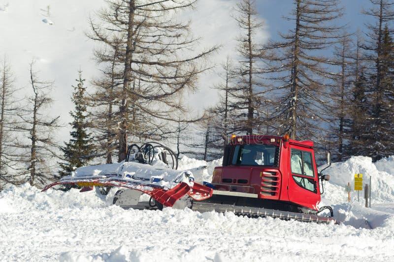 Snowplow. Make a way in winter royalty free stock image