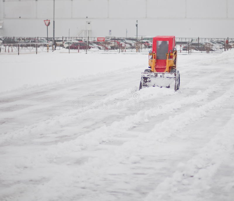 Download Snowplow clearing road stock photo. Image of road, frozen - 27546176