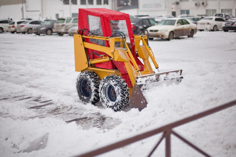 Download Snowplow clearing road stock photo. Image of machinery - 27546202