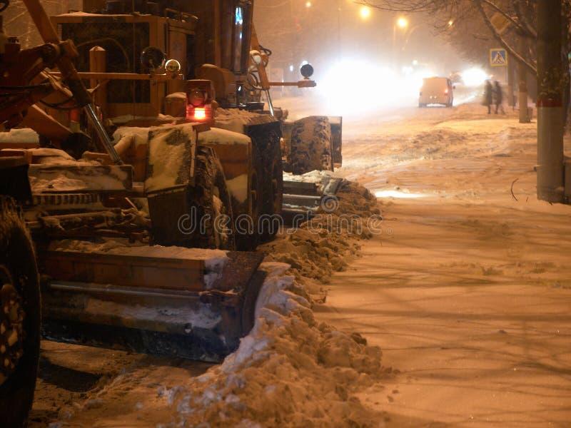 Snowplow no resto fotos de stock