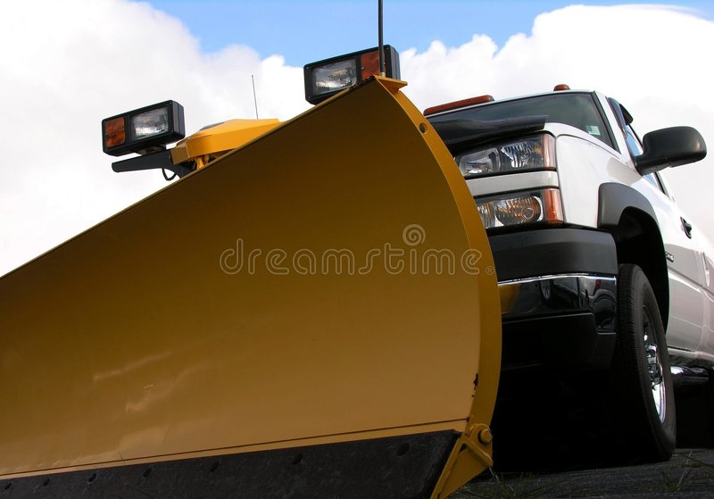 Snowplow and truck royalty free stock images