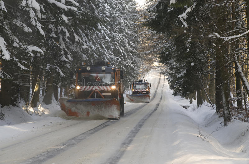 Snowplows foto de stock royalty free