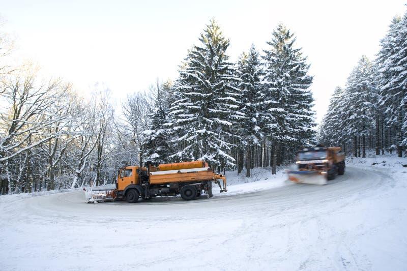 Snowplows imagem de stock
