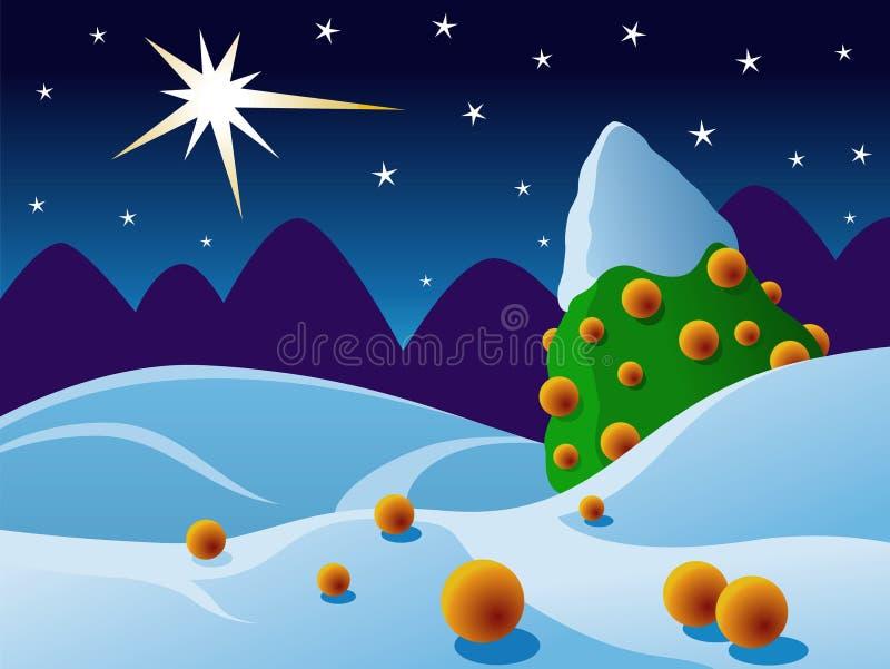 Snowscape ilustração royalty free