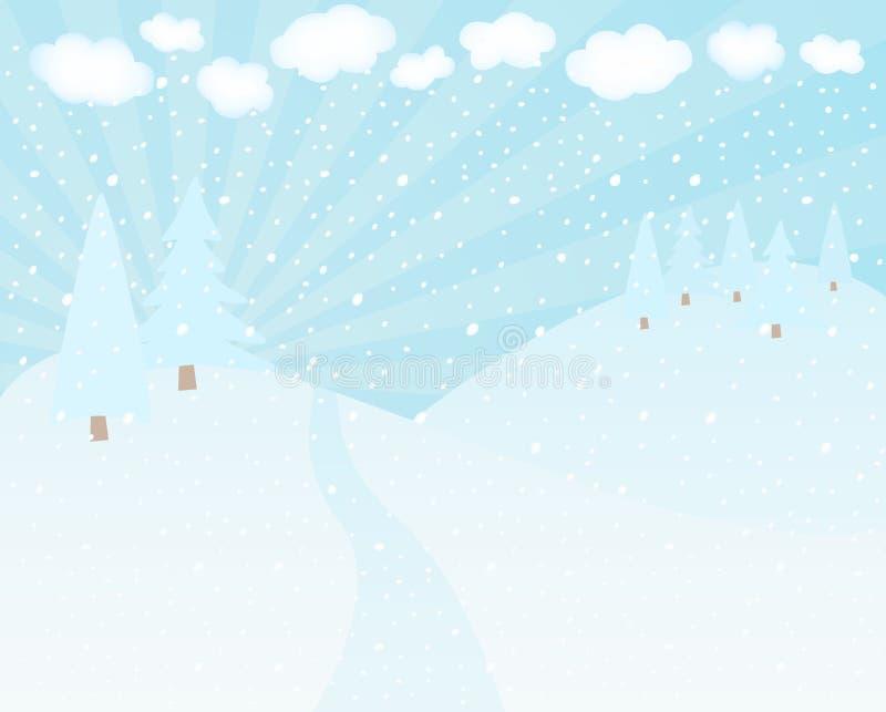 Snowscape ilustração do vetor