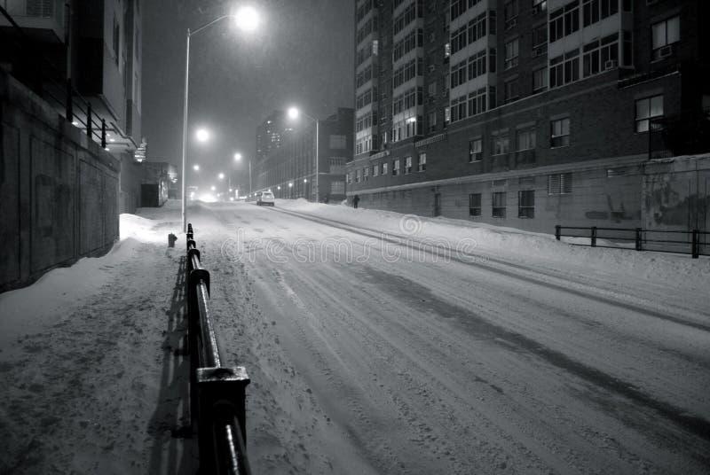 snowscape miejskie zdjęcia royalty free