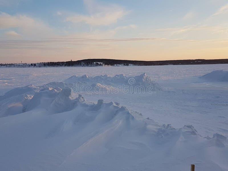 Snowscapes du Kazakhstan photo stock
