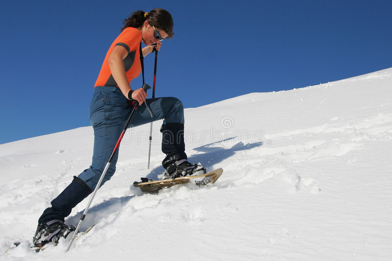 Snowshoe Trip Royalty Free Stock Photography