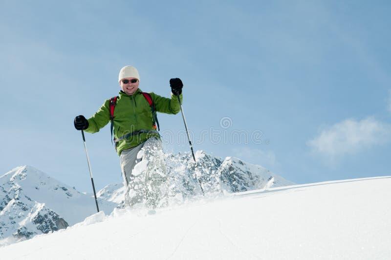 Snowshoeing imagen de archivo