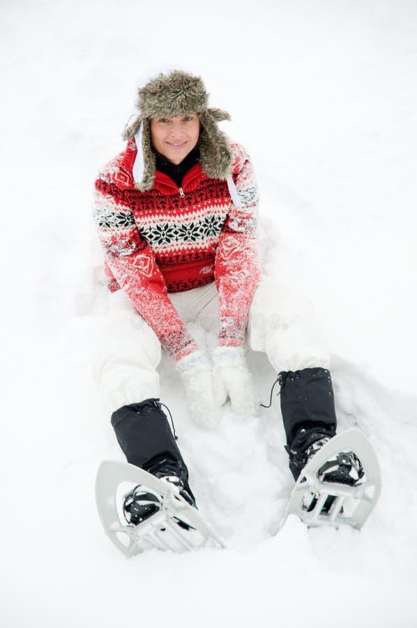 Snowshoeing Fotos de archivo