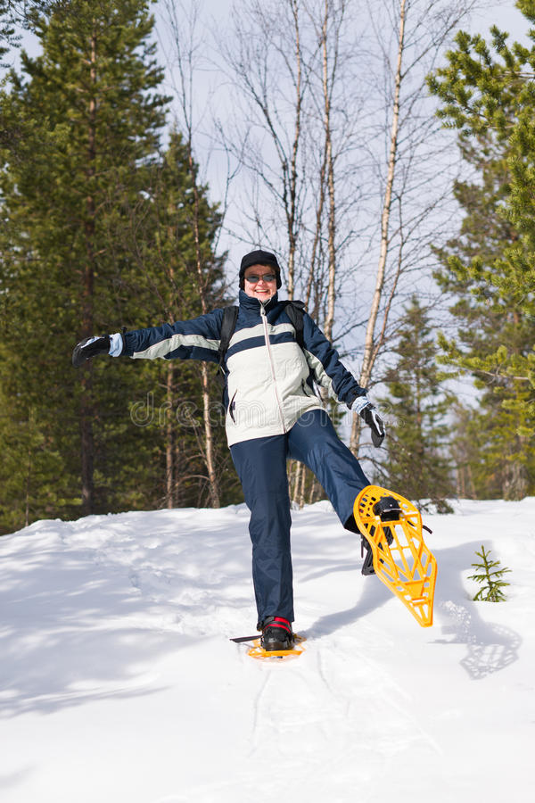 Snowshoeing Royalty Free Stock Images
