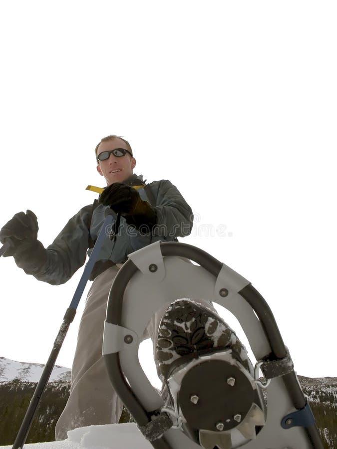 Snowshoeing - Il Montana Immagini Stock