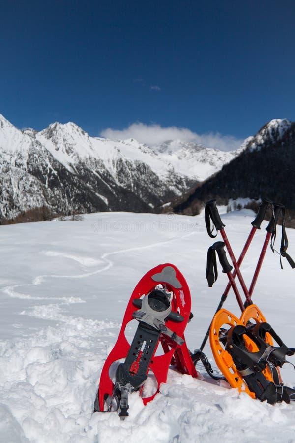 Snowshoes fotografia de stock royalty free