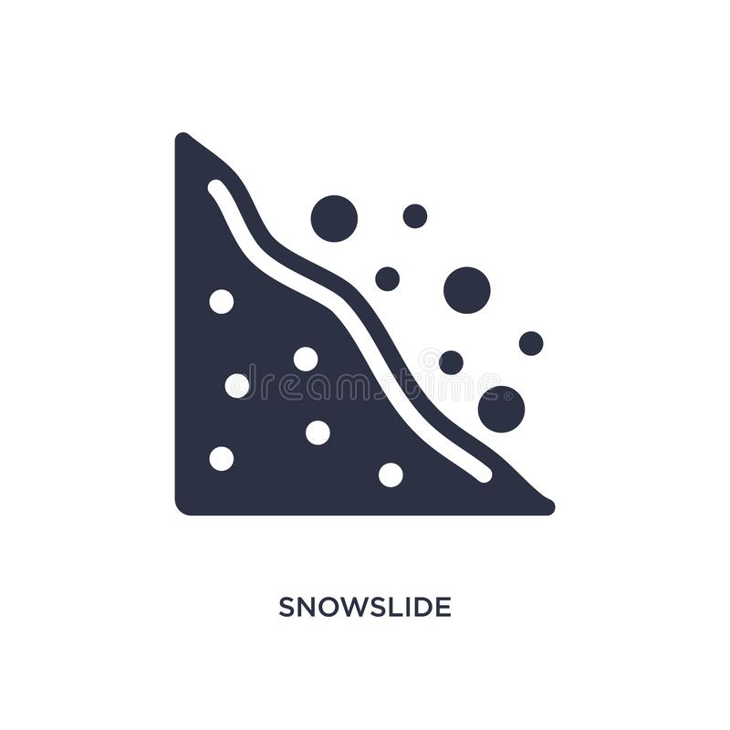 snowslidepictogram op witte achtergrond Eenvoudige elementenillustratie van Aardconcept vector illustratie