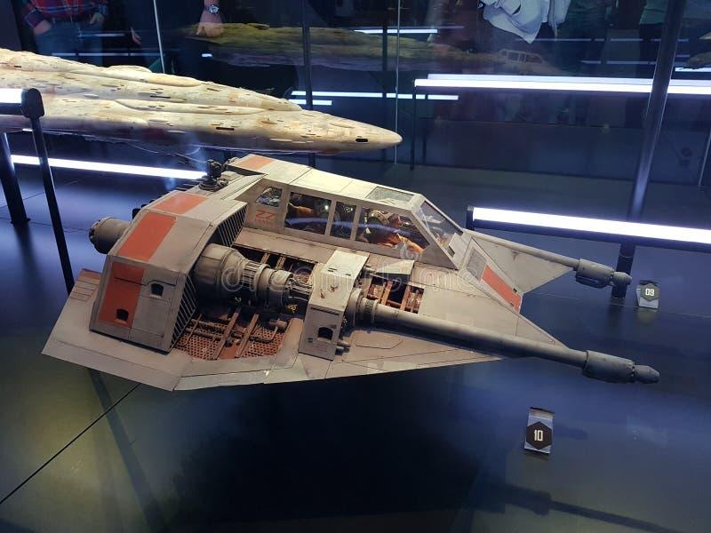 Snowspeeder Звездных войн стоковое изображение