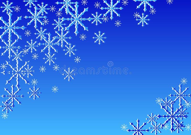 snowstjärnor vektor illustrationer