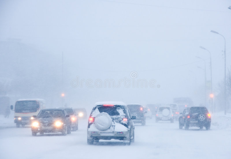 snowstorm στοκ φωτογραφία