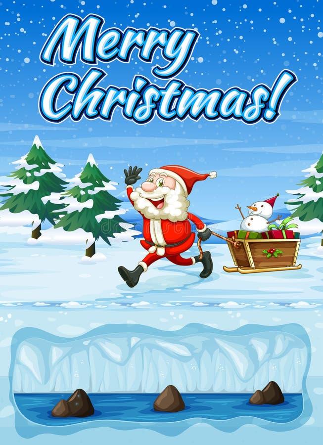 Snowt Wesoło kartka bożonarodzeniowa ilustracja wektor