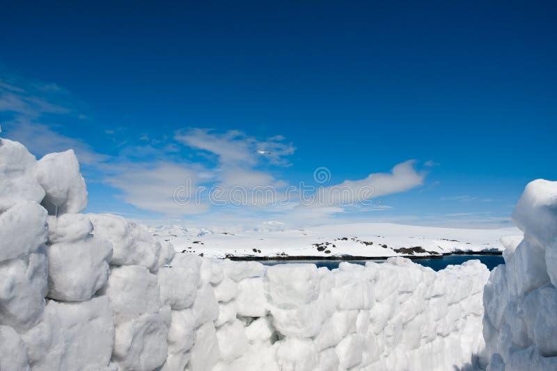 Snowväg royaltyfri bild